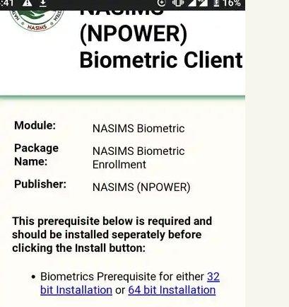 N-Power Batch C Shortlist: How To Complete The Biometrics Fingerprint Capture Enrollment
