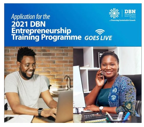 Development Bank of Nigeria (DBN) Entrepreneurship Training Program 2021 is Out -Apply now